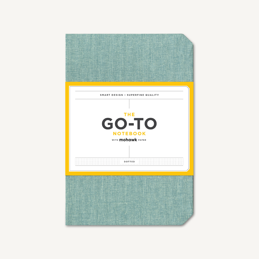Go-To Notebook with Mohawk Paper, Sage Blue Dotted