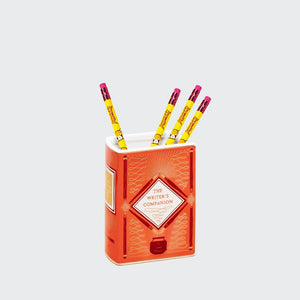 Bibliophile Ceramic Vase: The Writer's Companion with four yellow pencils