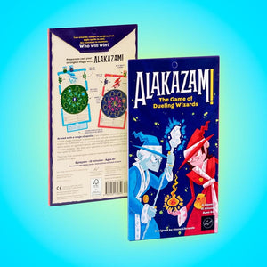 Alakazam! The Game of Dueling Wizards box back and front