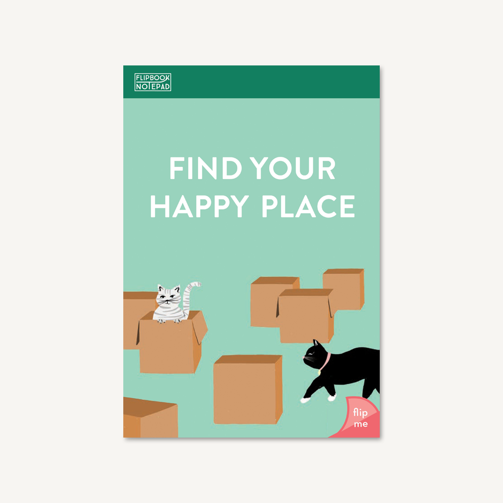 Flipbook Notepad: Find Your Happy Place