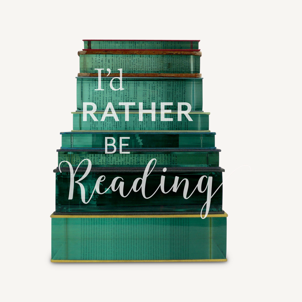 I'd Rather Be Reading: 20 Notecards & Envelopes