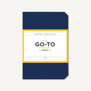 Go-To Notebook with Mohawk Paper, Midnight Blue Dotted