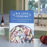Big Love Cooking cover on kitchen counter