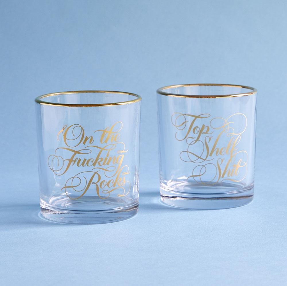 Two Damn Classy Rocks Glasses