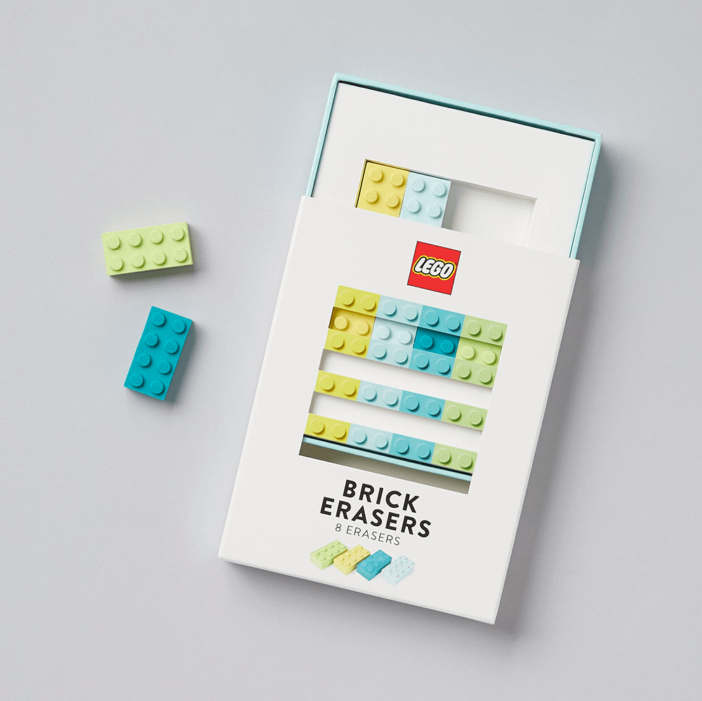 LEGO Brick Erasers with open box
