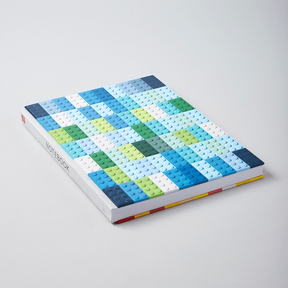 LEGO Brick Notebook showing front cover