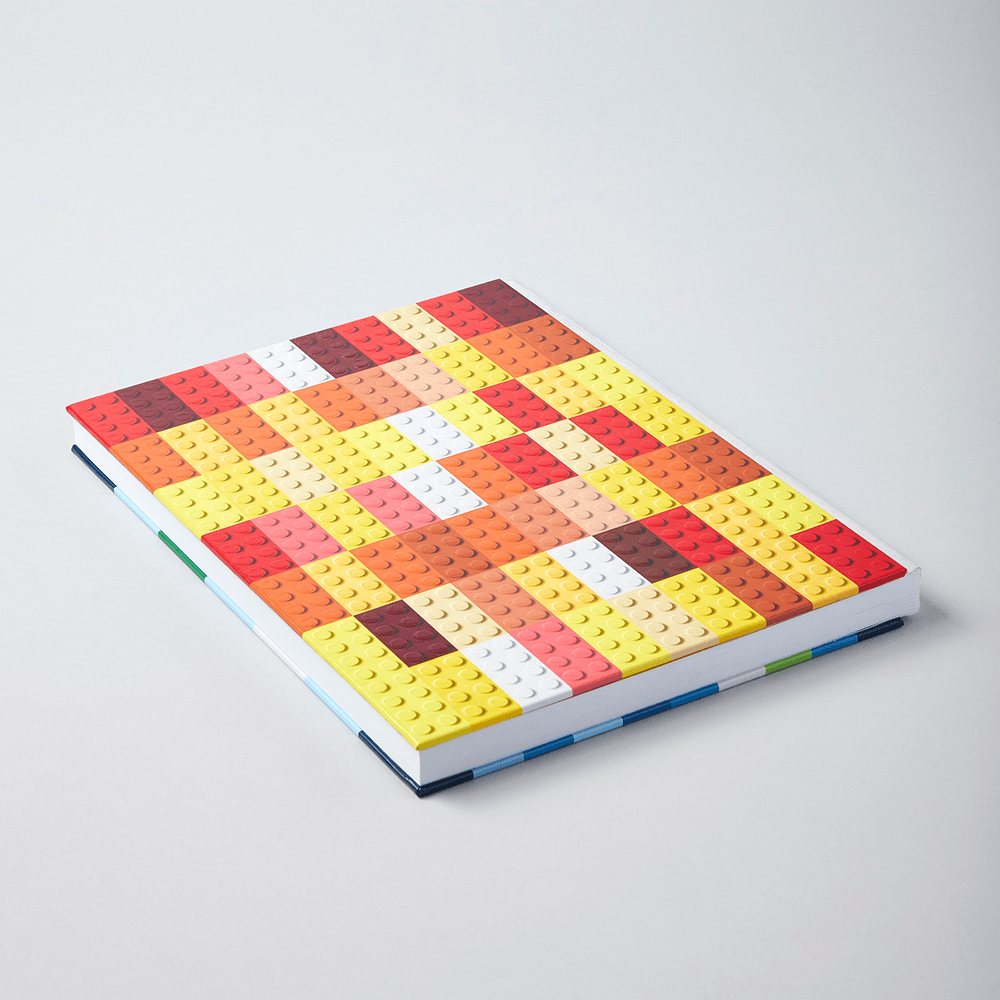 LEGO Brick Notebook showing back cover