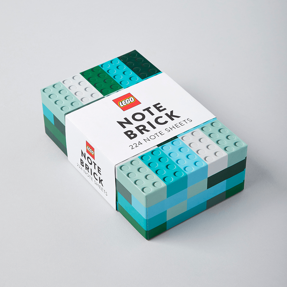 LEGO Note Brick (Blue-Green)