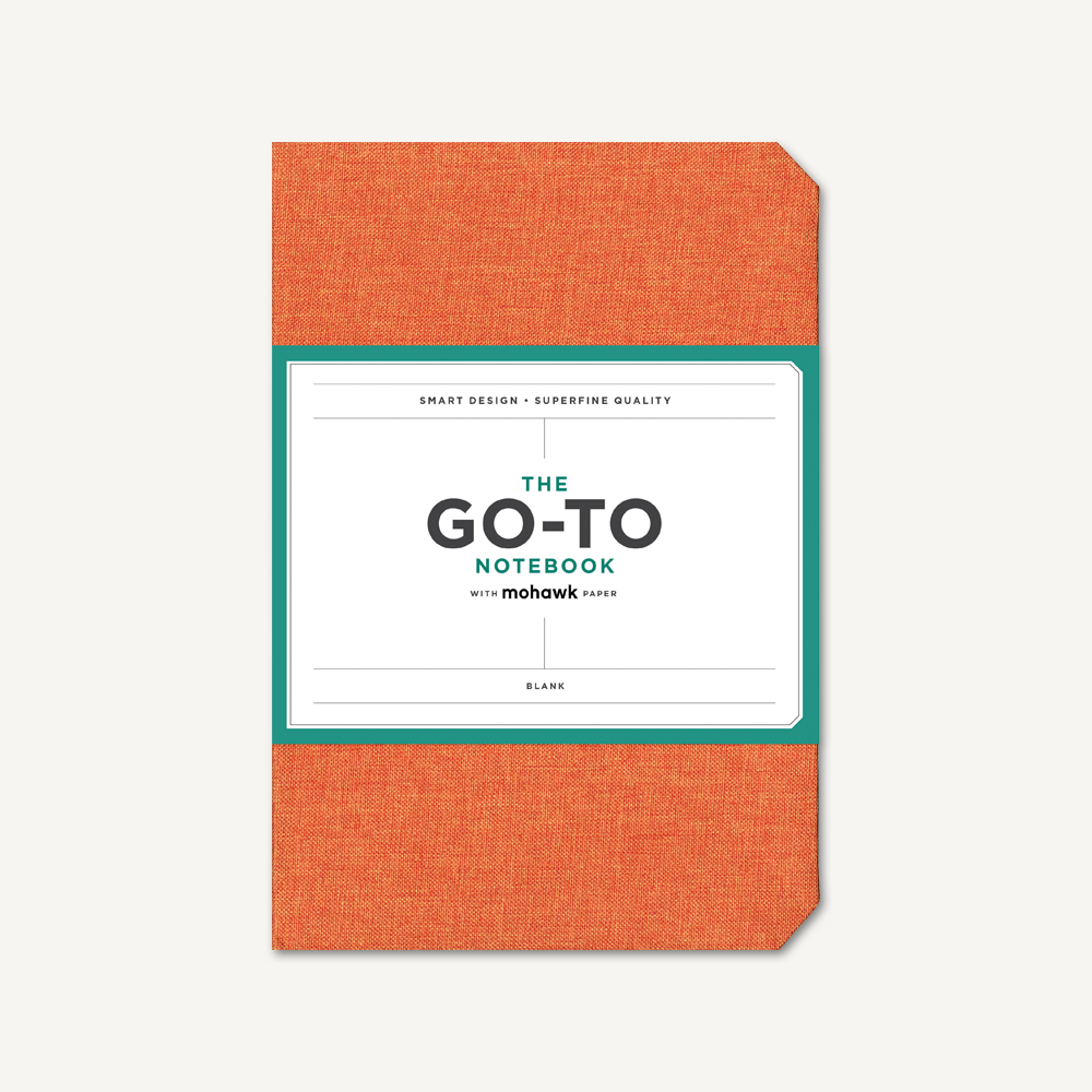 Go-To Notebook with Mohawk Paper, Persimmon Orange Blank