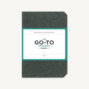 Go-To Notebook with Mohawk Paper, Slate Grey Blank
