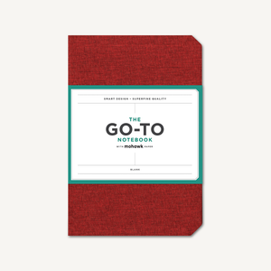 Go-To Notebook with Mohawk Paper, Brick Red Blank