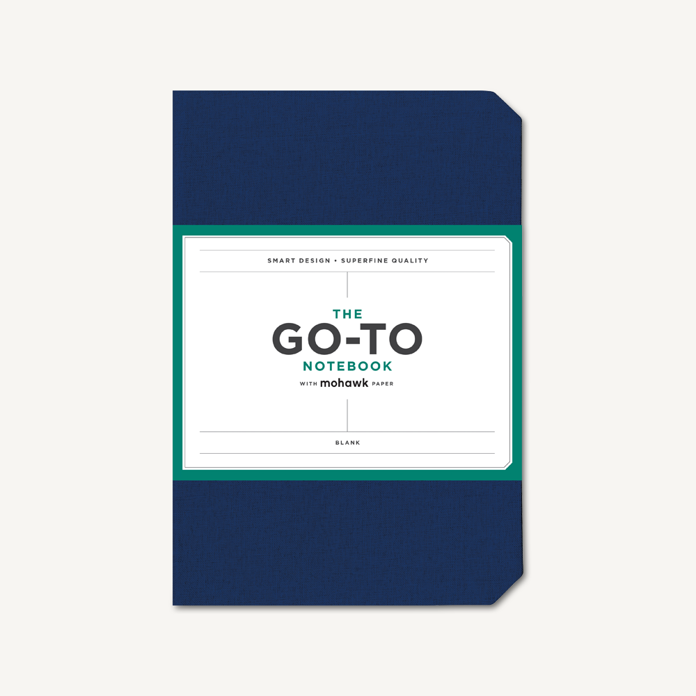 Go-To Notebook with Mohawk Paper, Midnight Blue Blank