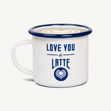 Love You a Latte Enamel Mug and Coaster Set