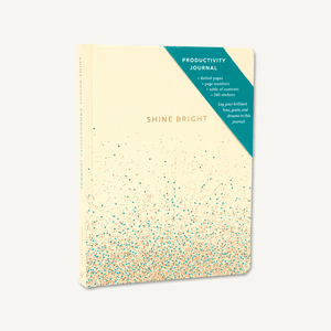 Shine Bright Productivity Journal  Cream