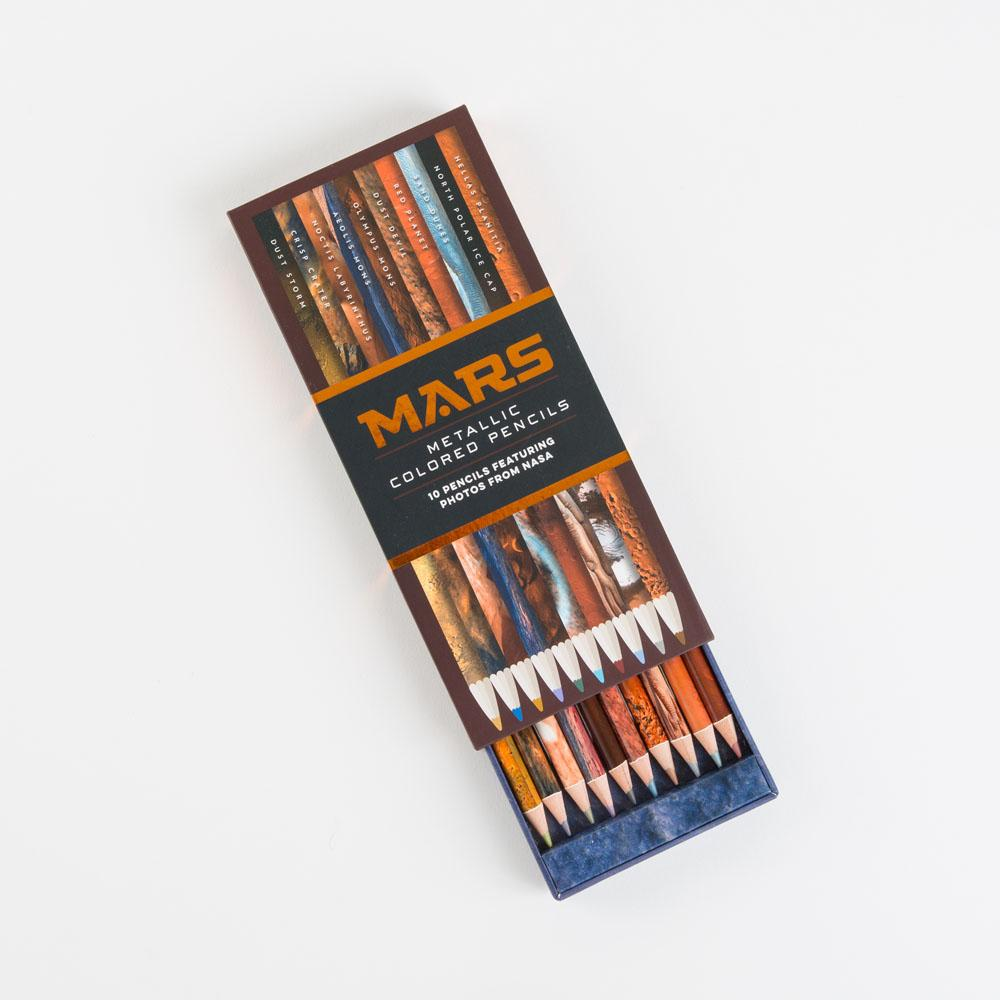 Mars Metallic Colored Pencils with open box