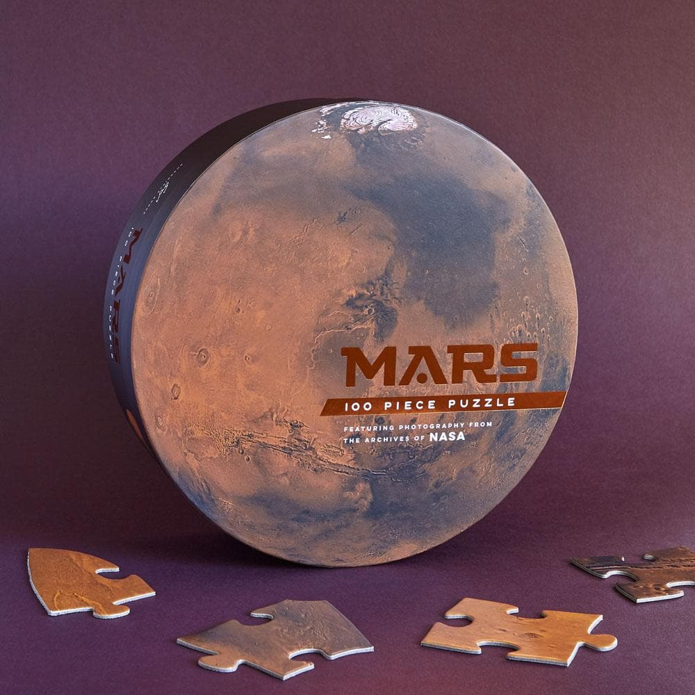 Mars: 100 Piece Puzzle with puzzle pieces and puzzle box