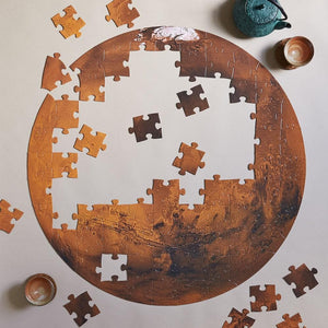 Mars: 100 Piece Puzzle with puzzle pieces