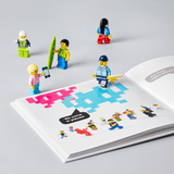 LEGO Small Parts book with minifigures on the open pages