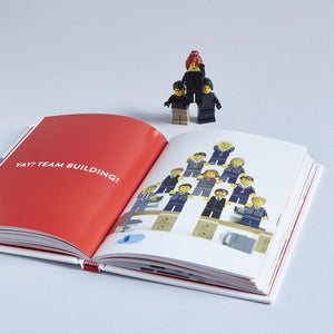 LEGO: We Just Click interior with minifigures
