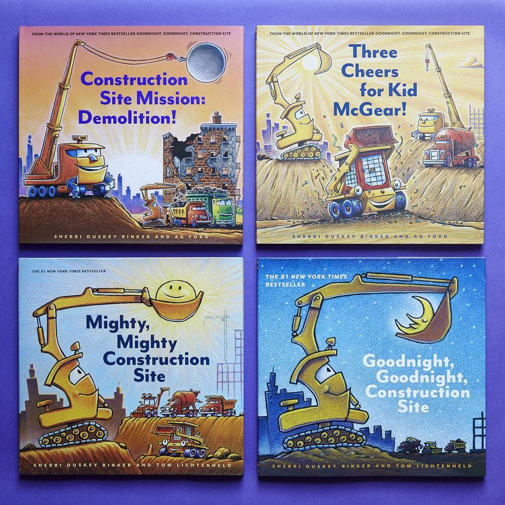 Construction Site Mission: Demolition! with Three Cheers for KdMcGear, Mighty, Might Constructions Site and Goodnight, Goodnight, Construction Site