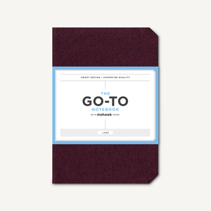 Go-To Notebook with Mohawk Paper, Mulberry Wine Lined
