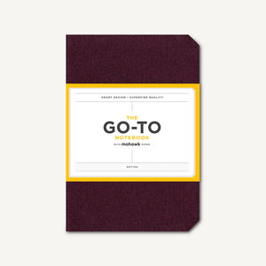 Go-To Notebook with Mohawk Paper, Mulberry Wine Dotted