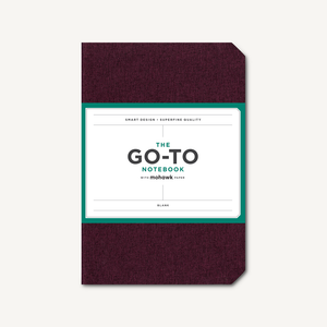 Go-To Notebook with Mohawk Paper, Mulberry Wine Blank