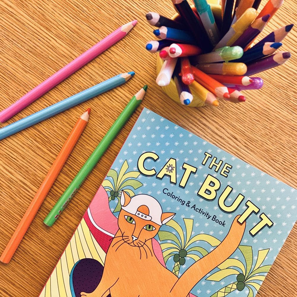 The Cat Butt Coloring and Activity Book interior