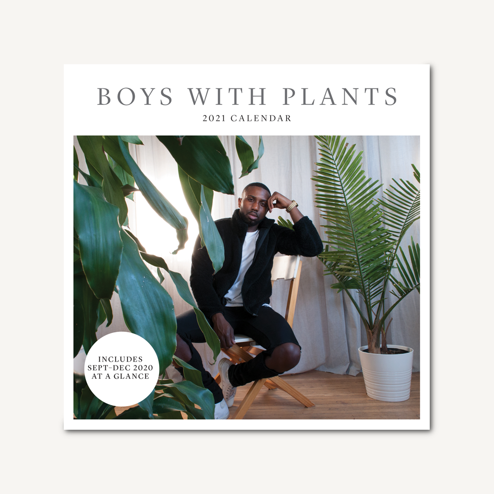 Boys with Plants 2021 Wall Calendar