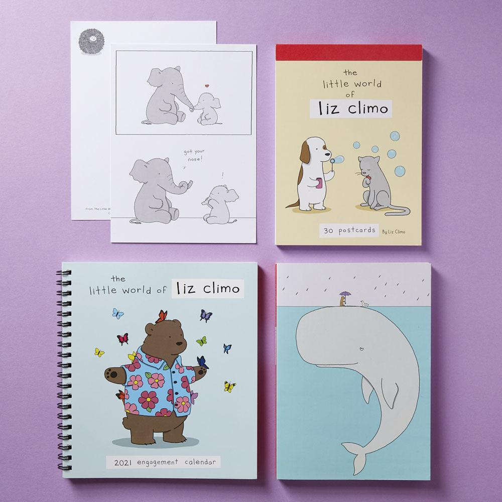 The Little World of Liz Climo 2021 Engagement Calendar with other Liz Climo stationery