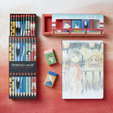 Spirited Away Pencils in box with matching eraser set and journal