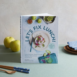 Let's Fix Lunch! with apples, plates, napkin and chopsticks