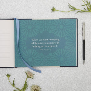 Journey A Journal of Discovery Follow Your Dreams and Live Your Destiny BY PAULO COELHO interior with quotation from The Alchemist