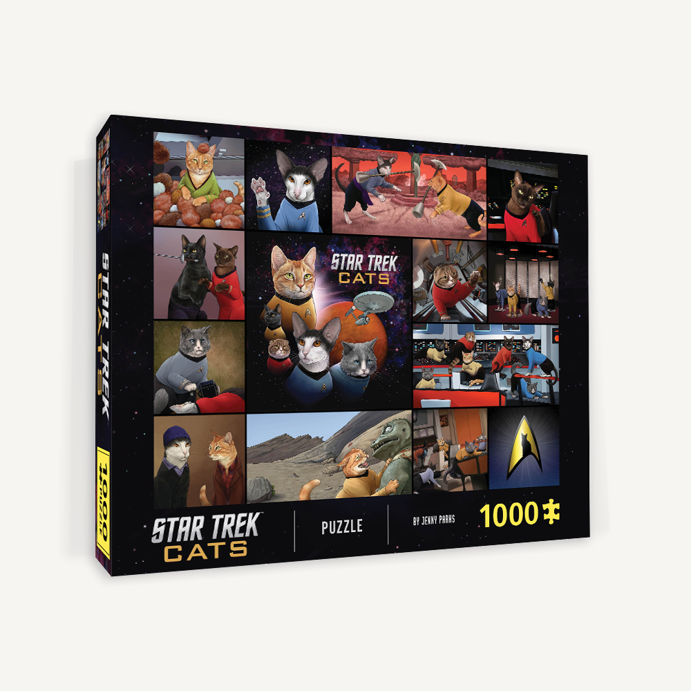 Star Trek Cats 1000-Piece Puzzle box