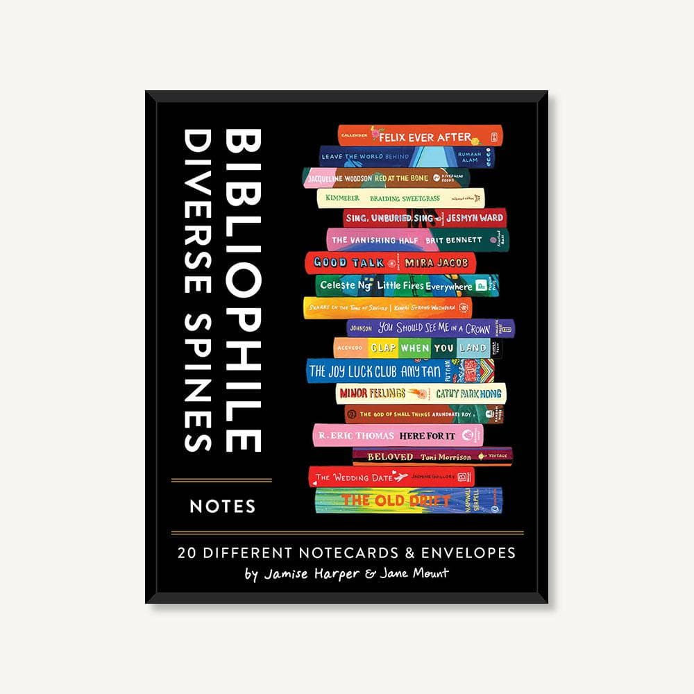 Bibliophile Diverse Spines Notes