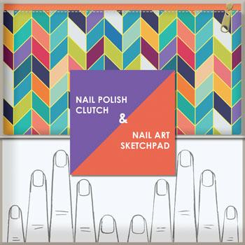 Nail Polish Clutch & Nail Art Sketchpad