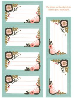 Botanicals Stationery Set