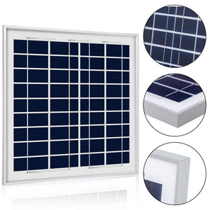 ACOPOWER 15 Watts Poly Solar Panel, 12V