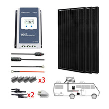 Load image into Gallery viewer, ACOPOWER 300W All Black Mono Solar RV Kits, 30A MPPT Charge Controller