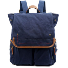 Load image into Gallery viewer, Atona Flap Canvas Backpack