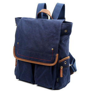 Atona Flap Canvas Backpack