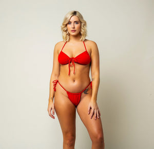 Açaí Bikini Top - Cherry Red
