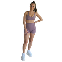 Load image into Gallery viewer, Kali Seamless High Rise Yoga Shorts - Plum