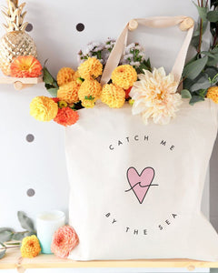 Catch Me By the Sea Cotton Canvas Tote Bag