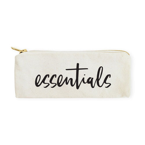 Essentials Cotton Canvas Pencil Case and Travel Pouch