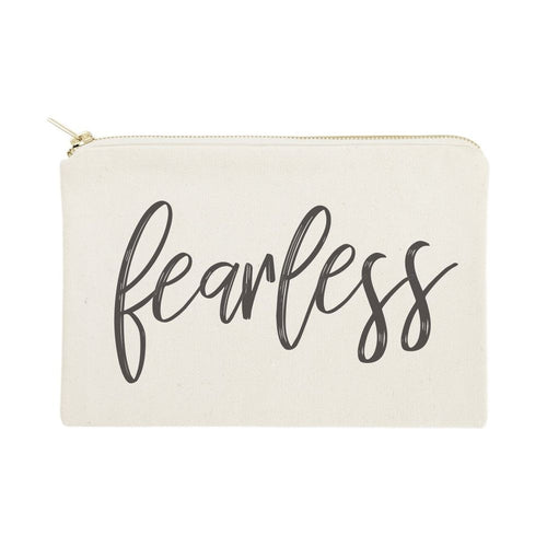 Fearless Cotton Canvas Cosmetic Bag