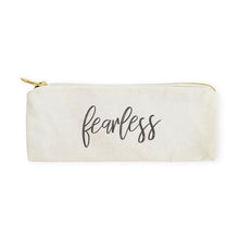 Load image into Gallery viewer, Fearless Cotton Canvas Pencil Case and Travel Pouch