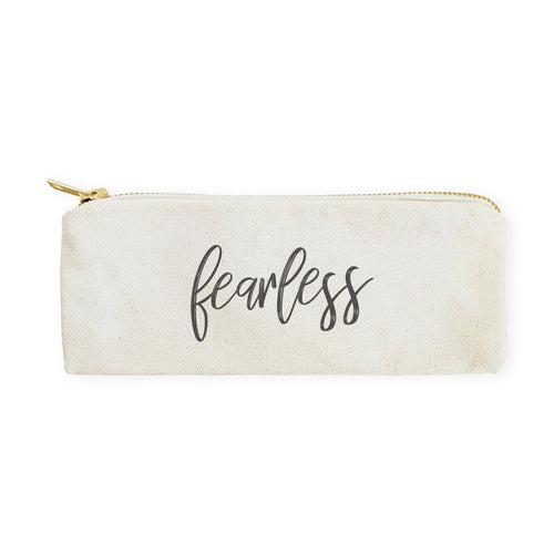 Fearless Cotton Canvas Pencil Case and Travel Pouch