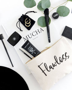 Flawless Cotton Canvas Cosmetic Bag