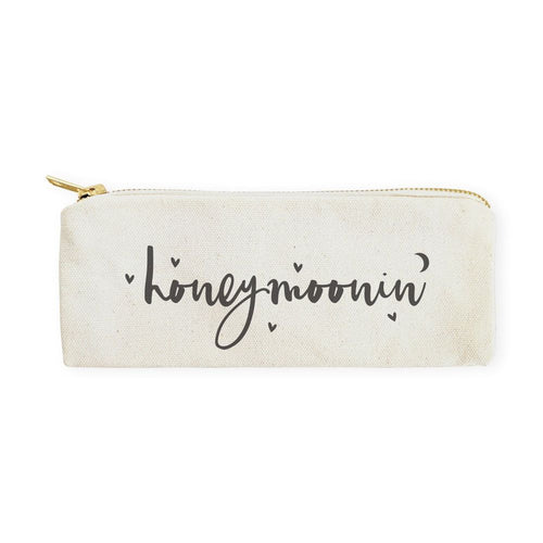 Honeymoonin' Cotton Canvas Pencil Case and Travel Pouch